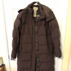 LL Bean long down coat